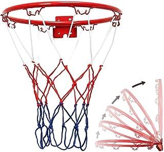 Color : Red SONGYU Ni/ño Disparando Anillo De La Cesta Canasta De Baloncesto Hueco Aro De Baloncesto Bajo Techo En Exteriores Adolescente Netball Ring Montado En La Pared Juguete Di/ámetro 45 Cm