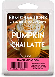 Pumpkin Chai Latte - Scented All Natural Soy Wax Melts - 6 Cube Clamshell 3.2oz Highly Scented!