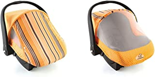 Cozy Cover Sun & Bug Cover (Orange Stripe) - The Industry Leading Infant Carrier Cover Trusted by Over 2 Million Moms Worldwide for Protecting Your Baby from Mosquitos, Insects and The Sun