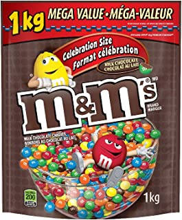 M&M's Milk Chocolate Candies Celebration Size Stand up Pouch 1kg