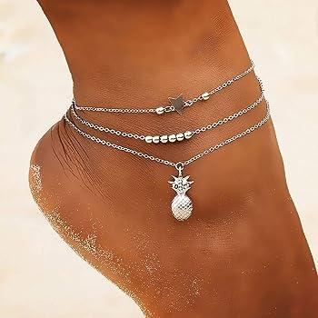 Summer Star Crystal Charm Beaded Ankle Bracelet Beach Sandal Anklet Jewelry Gift