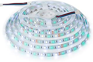 BTF-LIGHTING 5050 RGBW RGB+Whtie Strip 5M 16.4ft 60leds/m IP65 Waterproof in slicone Coating Mixed Color led Strip
