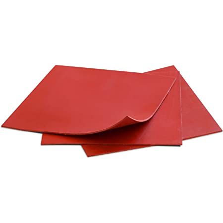 Rubber Sheets Red, 6x6-Inch by 1/16, (3 Sheet Pack), Plumbing, Gaskets DIY  Material, Supports, Leveling, Sealing, Bumpers, Protection, Abrasion,  Flooring - - Amazon.com