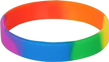 TRIXES Silicone Rainbow Wristband Pride Bracelet