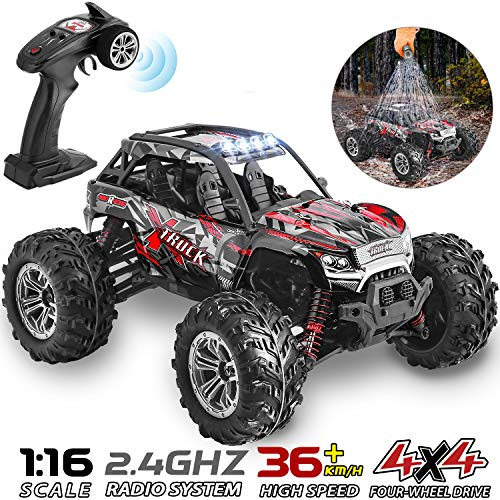 HisHerToy 4WD RC Trucks for Adults IPX4 Waterproof RC Cars High Speed...