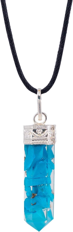Art Of Creation Turquoise Blue Orgone Necklace Handmade Chakra Pendant   For EMF Protection Meditation And Yoga