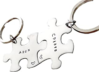personalized puzzle piece keychain