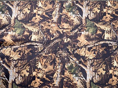 Hoja de camuflaje de neopreno. Neoprene camouflage sheet. Patrón de la hoja del otoño. 128cm x 79cm.