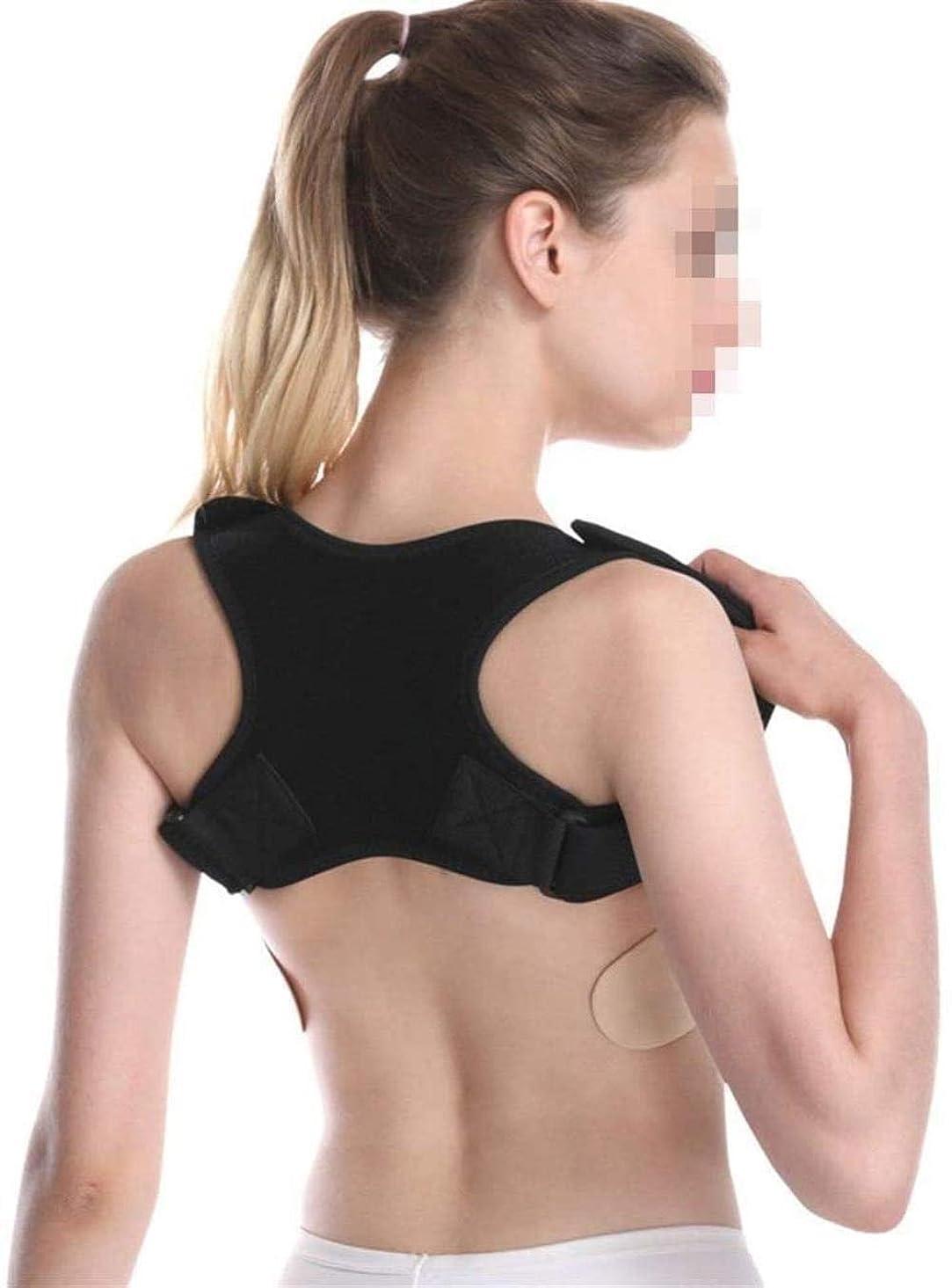 電話集まる同級生中かっこ 脊柱側弯症の痛みを軽減するアッパー背中と肩の姿勢サスペンダー鎖骨サポートサポート最適なサポート 座位装具 (Color : Black)