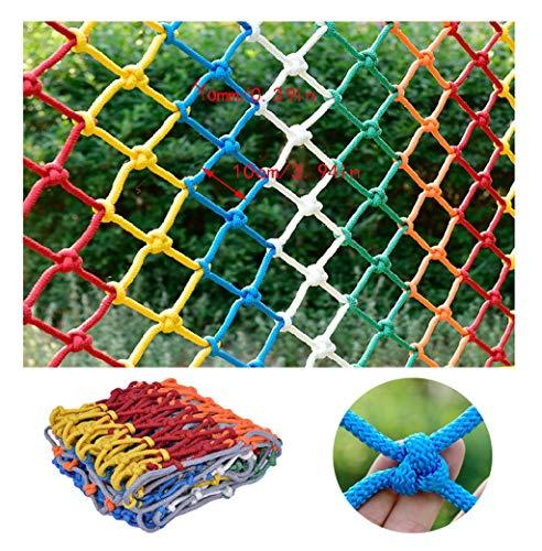 Farbe Kletternetz Kindersicherheitsnetz Treppe Balkon Schutznetz Heimtiernetz Pflanzennetz Dekoratives Mehrzwecknetz Spielnetz (Size : 1x5m)