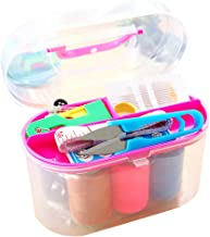 Storage Box, Botrong Thorn Rust Sewing Kit Needle and Thread Hand Measure Tape Scissor Storage Box - Size:14.5 * 7 * 9.5cm Random Color