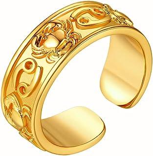 خاتم نسائي من FindChic برج ذهبي قابل للتعديل من مجموعة برج ذهبية اللون للنساء والفتيات، مع علبة هدايا