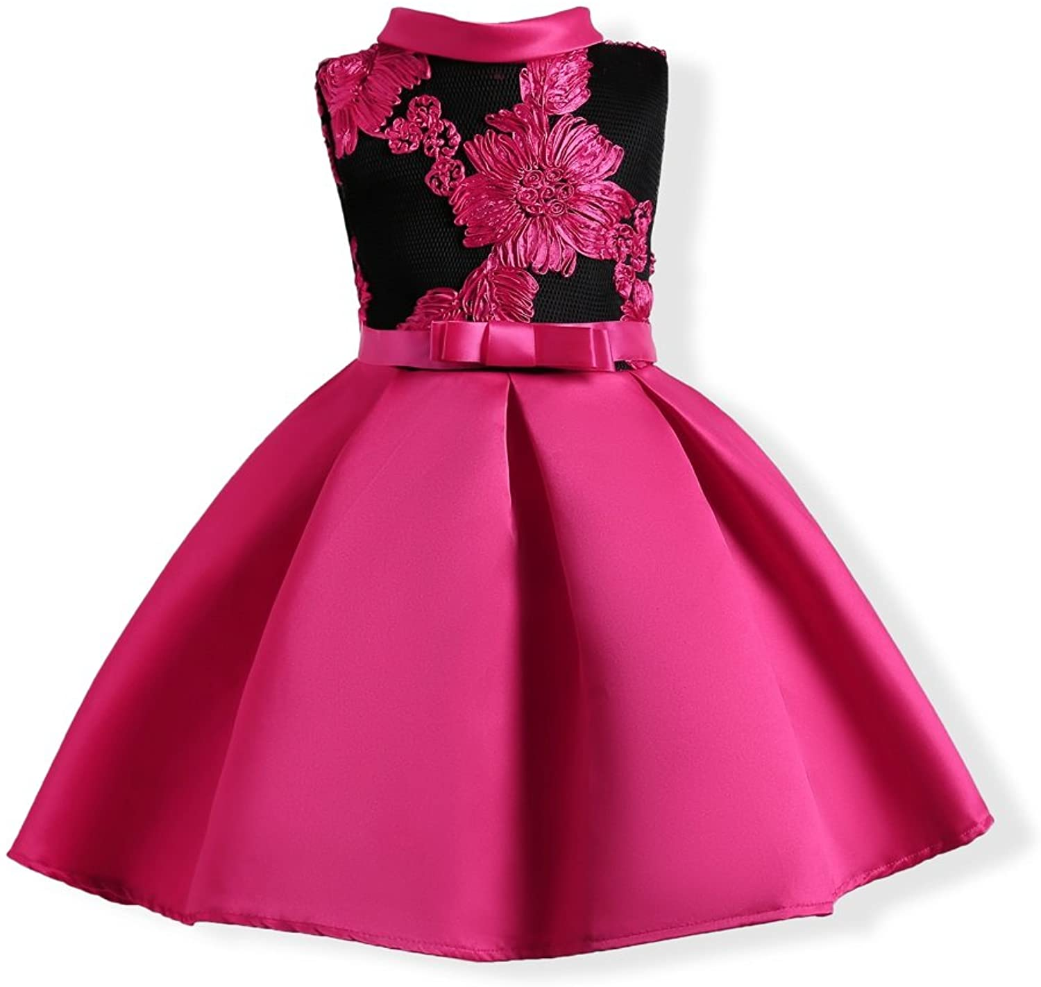 FXFAN Girls Dresses Butterfly Embroidery Formal Wedding Party Dresses Princess Dresses(red, Pink, blueee) ZHANGM