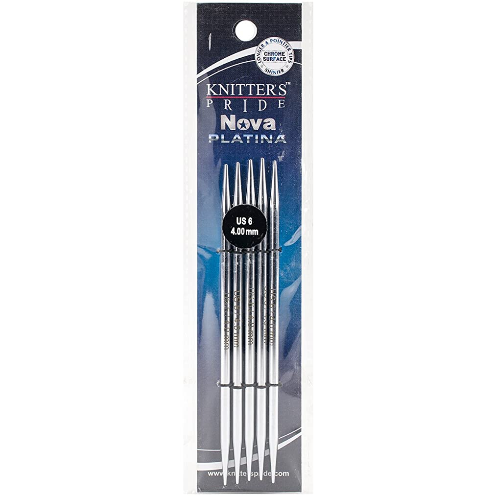 Knitter's Pride 6/4mm Nova Platina Double Pointed Needles, 5