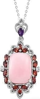 Peruvian Pink Opal Pendant Necklace 20