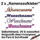 myrockshirt 2X Namensaufkleber Toni/Tony Name Wunschname Aufkleber UV & wasserfest, freie Farbwahl, Schriftart wählbar, Namen S