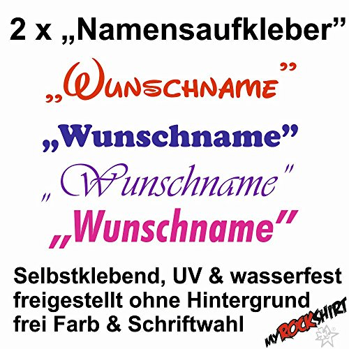 """2x Namensaufkleber \""""Toni / Tony \"""" Name Wunschname Aufkleber UV & wasserfest, freie Farbwahl, Schriftart wählbar, Namen Sticker , Namensetiketten, Namensaufkleber, Namenssticker, Namensschilder für Schule & Kindergarten selbstklebend, Briefkasten, Mülleimer,"""