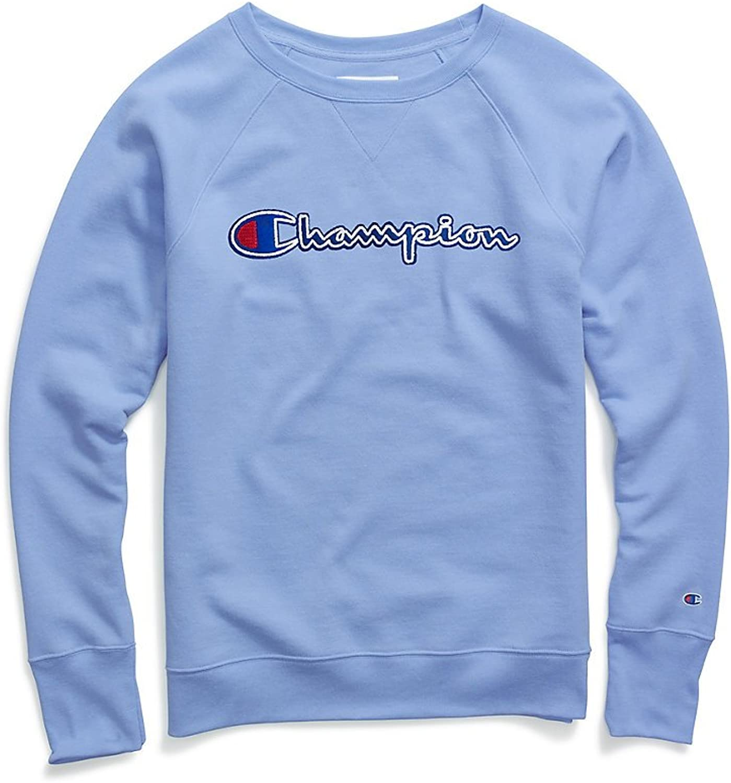 Champion damen Powerblend® Fleece Boyfriend Crew, Felt Logo (W2956F Y07461)