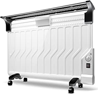 lqgpsx Home Heater-White Mechanical Version Oil Filled Radiator Heater Mini Portable Electric Room Thermostat,Ultra-Thin and Energy saving/2200W Rapid Warming
