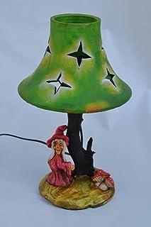 LAMPADA DA TAVAOLO IN LEGNO STREGA-CHAMPIÑON