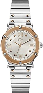 Gc Womens Quartz Watch, Analog Display And Stainless Steel Strap - Y60002L1MF
