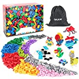GARUNK Building Blocks 1000 Pcs, Classic Building Bricks for Kids Educational Toys with Wheel, Tire, Axle, Window, Doors Compatible with All Major Brands for Ages 3 4 5 6 7 8 9 10 Year Old Boys Girls