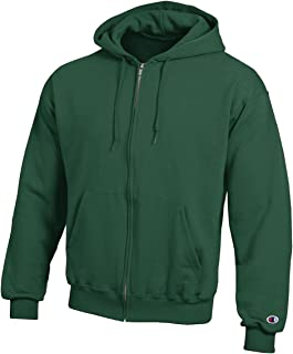 Champion Men's Eco Full-Zipper Fleece Hooded Sweatshirt