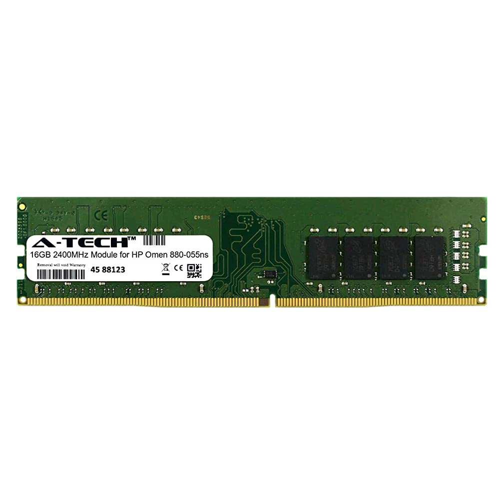 A-Tech 16GB Module for HP Omen 880-055ns Desktop & Workstation Motherboard Compatible DDR4 2400Mhz Memory Ram (ATMS282541A25822X1)