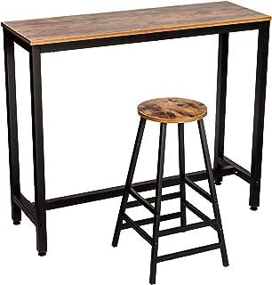 IRONCK 2-Piece Pub Bar Table Set, 47.2''Dining High Top...