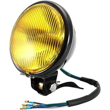 Copertura in vetro bianco scocca nera lampadine del faro automobilistico migliore efficienza luminosa faro del faro del motociclo 5 pollici faro del motociclo