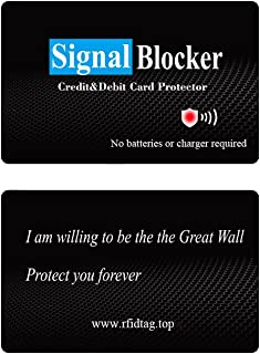 LED Credit Card Protector Just One RFID Blocking Card Can Protect Whole Wallet and not Need RFID Blocking Sleeve