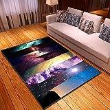 QWFDAQ alfombras Salon Resumen de Cielo Estrellado Alfombra 60 x 90 cm Alfombra vinilica - Alfombra Suave - Alfombra de Salón, Comedor, Dormitorio, Pasillos, Entrada