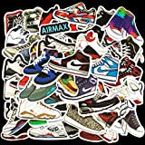XMISHOP Basketball Shoes Stickers, Sport Waterproof Waterbottle Laptop Stickers,AJ Fashion Vinyl Decal for Teen Kids Adults, Perfect for Phone Travel Case Computer Notebook Snowboard Guitar(50 PCS Pack)