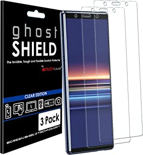 TECHGEAR [3-pack] skärmskydd passar Sony Xperia 5 [ghostSHIELD Edition] äkta förstärkt TPU-film skärmskydd skyddskåpa fodr...