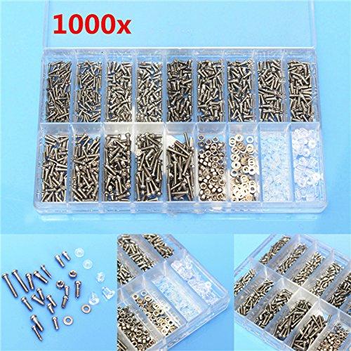 3 packs/Lot 1000pcs Bril Zonnebril Brillen Schroeven Moer Reparatie Kit Met een Plastic Hoesje