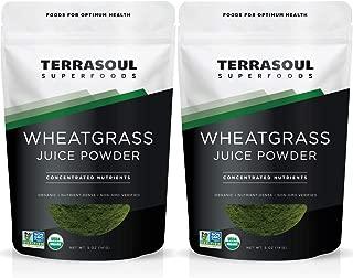Terrasoul Superfoods Organic Wheat Grass Juice Powder, 10 Ounces - USA Grown