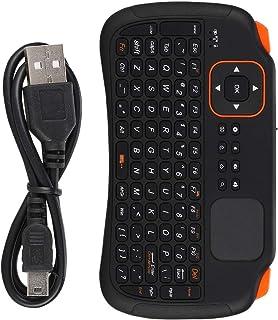 Yoidesu Mini Wireless Keyboard with Touchpad Mouse,2.4GHz Mini Wireless Keyboard Controller with 83-Key,Rechargeable Mini ...