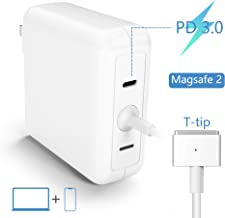 Ketaky MacBook Air Charger, 45W T-Tip Magsafe 2 Laptop Adapter Compatible with MacBook Air 11-Inch and 13-Inch   USB C 18W PD Charger  Charge Phone,Mac from One Plug Point  Mac Charger Power Adapter
