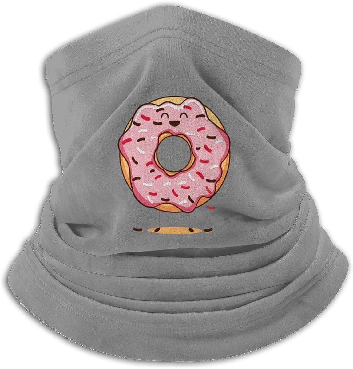 Doughnut Day Black Multi-function Neck Warmer Gaiter Polyester Neck Warmer Windproof Winter Neck Gaiter Cold Weather Scarf For Men Women