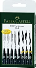 Faber-Castell 167137 - Tuschestift Pitt Artist Pen, 8er Kunststoffetui, schwarz