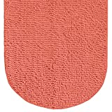 Gorilla Grip Original Luxury Chenille Bath Rug Mat, 42x24, Extra Soft and Absorbent Large Oval Shaggy Bathroom Rugs, Machine Wash Dry, Plush Carpet Mats for Tub, Shower, and Bath Room, Coral