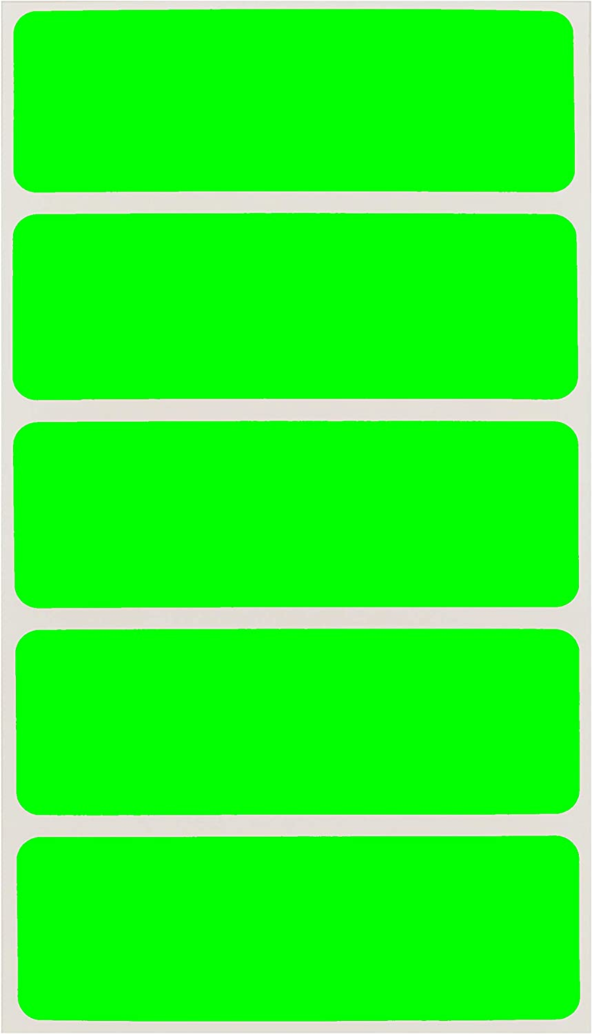 ChromaLabel 1 x 3 Inch Removable Color-Code Rectangle Labels, 150 Stickers/Pack, Fluorescent Green : Office Products
