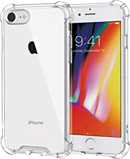 MoKo Cover Compatible for iPhone 8 Case / iPhone 7 Case, Flexible TPU Bumper Gel Case Crystal Clear Ultra Slim Shell Protective Anti-Scratch Rigid Back Cover for Apple iPhone 8 / 7, Crystal Clear