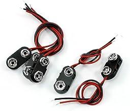 uxcell バッテリコネクタ バックルホルダー 黒いプラスチック製 ハウジング クリップコネクタ 5個入り