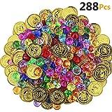 288 Bunte Goldmünzen für den Piratenschatz