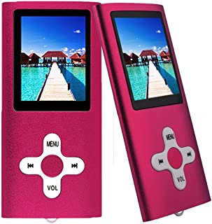 "RHDTShop Slim Classic Digital LCD 1.7"" Screen MP3 Player Supports FM Radio/E-Book Reader, Red"
