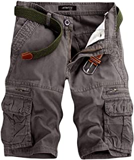 GreatestPAK pure colour men's outdoor shorts, beach work, trousers, cargo trousers
