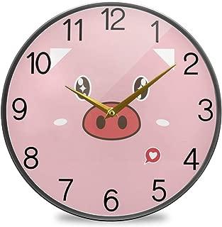 Chovy 掛け時計 サイレント 連続秒針 壁掛け時計 インテリア 置き時計 北欧 おしゃれ かわいい 豚 豚柄 ピンク 可愛い かわいい 部屋装飾 子供部屋 プレゼント