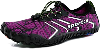 Lightweight Quick Dry Water Sports Shoes, Rubber Beach Shoes, Multifunctional Sports Shoes Soft Sole Non-slip And Wear-resistant (Color : Purple, Size : 38)