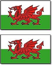 ウェールズ 国旗 フェイス シール 2枚入り <水転写タイプ>  ( 国旗 ペイント タトゥー シール )